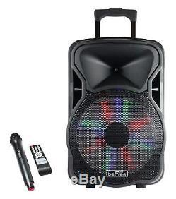 Système De Son Extérieur D'équipement Portatif De Plancher Dj De Haut-parleur Bluetooth De Partie 1500w Bluetooth