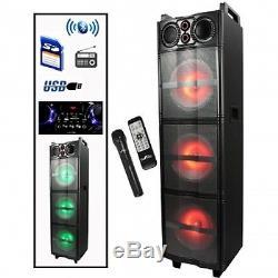 Système De Son Subwoofer Party Dj Pa 3 Portable Avec Fm Usb Sd Bluetooth Nouveau