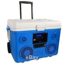 Tailgate Party Bluetooth Cooler Avec Roues 40 Qt. Haut-parleur Audio Intégré 350w