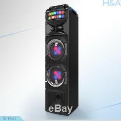Tql Tq-ty512 2 X 5,25 Pa Party Président + Bluetooth + Usb / Sd / Fm / Led