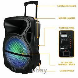 Trexonic 15 Portable Bluetooth Pa Dj Party Speaker & Tripod Stand