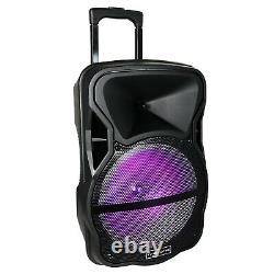 Trexonic Trx-12d 12 Portable Bluetooth Pa Dj Party Speaker Tripod Stand Ac/dc