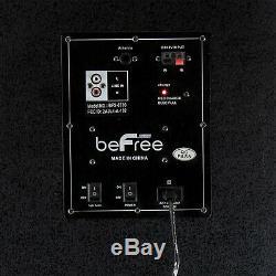 Triple 10 2500w Party Caisson De Basses Bluetooth Portable Dj Enceintes Lumières Réactives