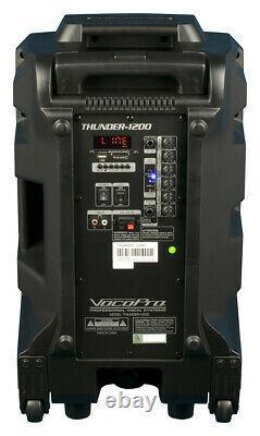 Vocopro Karaoke-thunder-1200 12 600 Watt Dj/karaoke Party Speaker Withderby Light